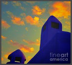 Chimneys at Sunset