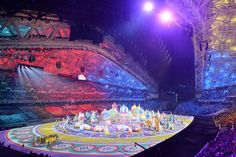 The Sochi opening ceremony was filled with traditional Russian scenery.