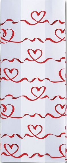 Patterned Cello Bags - Red Satin Hearts Cello Bags, 4 x 2 1/2 x 9 1/2' (100 Bags) - BOWS-237-040209-RH >>> Continue to the product at the image link.