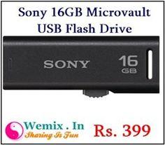 Sony 16GB Microvault USB Flash Drive Rs 399 Memory Storage, Sony, Usb Flash Drive, Usb Drive