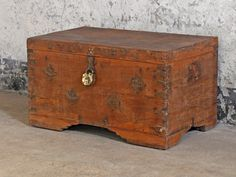 Old Wooden Storage TrunkBuy Old Wooden Storage Trunk Sold Products at Scaramanga Storage Trunk, Storage Boxes, Storage Chest, Vintage Furniture For Sale, Furniture Sale, Old Chest, Blanket Box, Wooden Chest, Money Box