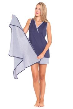 nursing tops - Olian Anne 3 Piece Mom and Baby Maternity Nursing Short Pajama Gift Set Navy Small ** Continuously the product at the photo web link. (This is an affiliate link). Maternity Nursing Pajamas, Maternity Sleepwear, Summer Maternity Fashion, Spring Maternity, Designer Maternity Clothes, Sleepwear Sets, Pajama Set, 3 Piece, Baby
