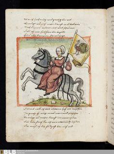 "From a german manuscript namned ""Frau untreue (Untrue woman). Artist unknown. Made first half of 16th century. ""304 [110v] - Frau Untreue - Seite - Handschriften - BLB Karlsruhe"