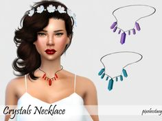 Crystals Necklace by pixelecstasy at TSR via Sims 4 Updates