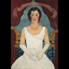 Frida Kahlo, Ritratto di una signora in bianco, 1929 ca. © Collezione privata, Germania, by SIAE 2014