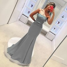 Cinza Sexy Longo Lace Sereia Vestidos Dama de honra para o Casamento de Cetim Strapless Formal Vestidos Das Damas de honra Vestido vestido de madrinha em Vestidos de dama de honra de Casamentos & Eventos no AliExpress.com | Alibaba Group