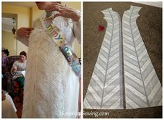 1880 Vanilla Dressing Gown | Creating the Lace Panels