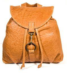Mochila de cuero marrón mochila de piel de por JUANJOgallery
