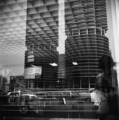 Marina City, Vivian Maier Self Portrait. Beautiful and my second favorite building(s) in Chicago!