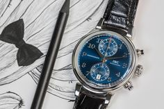 """Vinci Chronograph Edition """"Laureus Sport for Good Foundation"""" Iwc Watches, Best Foundation, Chronograph, Luxury, Sports, Blue, Accessories, Luxury Watches, Hs Sports"""