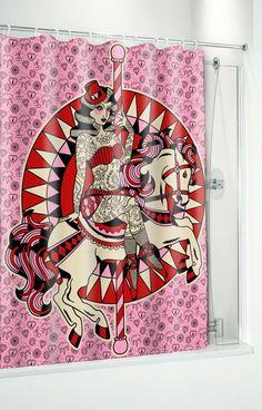 Carousel horse-suihkuverho - Tyyliä Kotiin - Kylppäriin - Underground Store & Piercing Studio