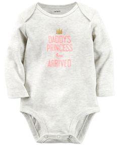 nice Carter's Baby Girls' Daddy's Princess Has Arrived Long-Sleeve Bodysuit - All Baby - Kids & Baby - Macy's Carters Baby Clothes, Carters Baby Girl, Baby Girls, Babies Clothes, Chloe, Daddys Princess, Princess Sophia, Disney Princess, July Baby