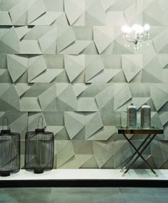 geometric Handmade tiles can be colour coordinated and customized re. shape, texture, pattern, etc. by ceramic design studios