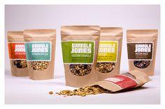 Granola Jones Packaging on Behance Packaging Snack, Spices Packaging, Pouch Packaging, Food Packaging Design, Coffee Packaging, Packaging Design Inspiration, Packaging Ideas, Granola, Super Cookies