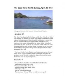 Sunday's complete reading from the Bible (April 22, 2012)