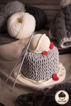 Stricktorte Knitting Cake Wintercake Wintertorte Motivtorte Stricken