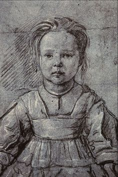 diego velazquez drawing of a girl