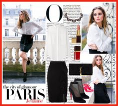 """Olivia Palermo in Paris"" by cherryrose22 on Polyvore"