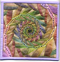 Beautiful small wall quilt - fractal