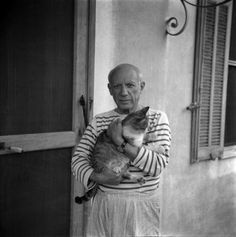 Picasso: Famous Artists Photographed With Their Cats – Flavorwire @Kelly Teske Goldsworthy frazier Jean Press