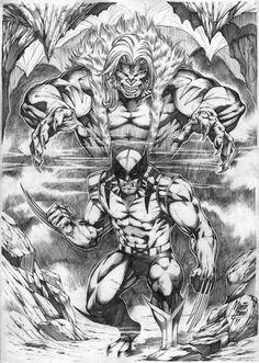 Sabretooth / Wolverine by Marcio Abreu