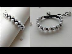 Bracelet/ Friendship bracelets/ How to make bracelets/friendship band/ Crossed bracelet with pearls - YouTube