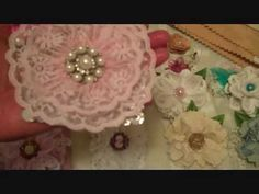 Doily & Lace Flowers and Gift Toppers - YouTube