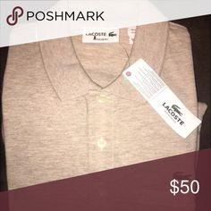 Men's Lacoste tan polo shirt Tan Lacoste polo shirt Lacoste Shirts Polos