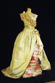 Vestidos de novia hechos con material reciclable