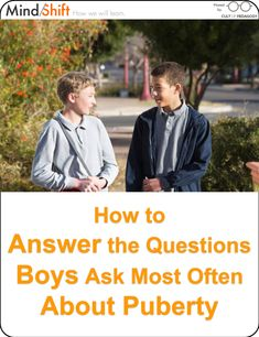 "Questions most frequently asked by adolescent boys from the boys' section of ""Will Puberty Last My Whole Life? REAL Answers to REAL Questions from Preteens About Body Changes, Sex, and Other Growing-Up Stuff"" by Dr. Robert Lehmann and Julie Metzger. Fetal Alcohol Syndrome, Cult Of Pedagogy, Teaching Boys, Growing Up, This Or That Questions, Mom, Learning, Health, Life"