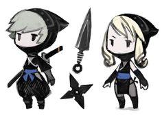 Ninja from Final Fantasy: The 4 Heroes of Light