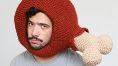 Lonely man crochets food-themed hats to make friends Amazing. I know what I'll be whearing to the races.
