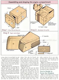Wooden Deuce Coupe Plan - Children's Wooden Toy Plans and Projects - Woodwork, Woodworking, Woodworking Plans, Woodworking Projects Wooden Truck, Wooden Car, Woodworking Projects Diy, Woodworking Plans, Wood Projects For Kids, Wood Toys, Construction, Diy Toys, Diy And Crafts