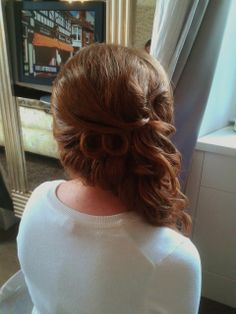 wedding hairstyle for long hair in Rome, Italy  by Janita http://www.hairmakeupnails-rome.com/