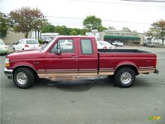 Would love to have one of these, but black not red. 1995 Ford F150, Ford F150 Xlt, 4x4 Trucks, Cool Trucks, Joy Ride, Eddie Bauer, Iron, Dreams, Cars