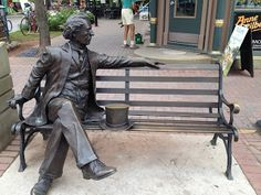 Have a seat and a chat with Sir John A. MacDonald, the first Prime Minister of Canada!