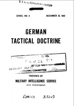 German Tactical Doctrine (Military Intelligence Service) - World War II Social Place