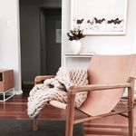 pink leather sling chair