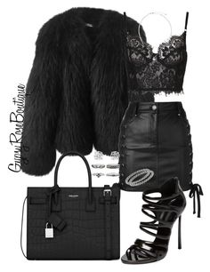 """""""#685"""" by gypsyroseboutique on Polyvore featuring Balenciaga, Versus, Casadei, Yves Saint Laurent and Betteridge"""