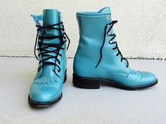 Thanksvintage blue roper riding boots awesome pin
