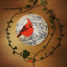 You will soon be able to buy original artworks from my etsy shop! Watch has this space! Working on photos for my new embroidery hoop collection! http://ift.tt/2fcrFO5 #bristolartist #textileartist #embroidery #embroideryhoops #bird #redcardinal #christmas #autumn #winter