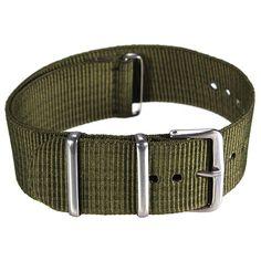 Sale 23% (2.29$) - Mens Military Army Black Green Nylon Sport Wrist Watch Band