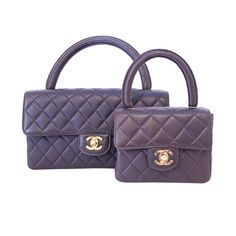 CHANEL Brown Quilted Leather Mother & Daughter Classic Flap Bag