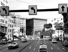 Portage and Main from a double-decker bus, 1964