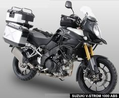 2014 Suzuki DL1000 V-Strom fully kitted out (almost) by Motorcycle Adventure Products - Luggage featured is Hepco Becker's Xplorer Dual Sport range! Trail Motorcycle, Motorcycle Luggage, Motorcycle Trailer, Motorcycle Adventure, Adventure Gear, Adventure Tours, Vstrom 1000, Kawasaki Versys 650, Cars