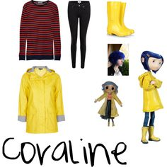Favorite Movies : Coraline by mialwrnc on Polyvore featuring T By Alexander Wang, Paige Denim, STELLA McCARTNEY and Topshop