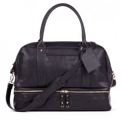 Women's Black Faux Leather Large Satchel | Sia by Sole Society