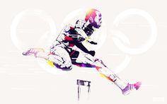 Legendary Olympians by Bram Vanhaeren, via Behance