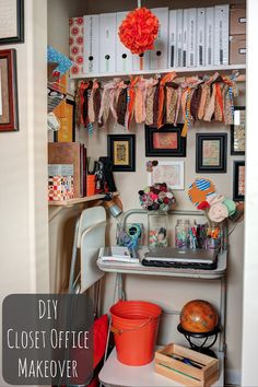 Orange you glad I have an office? (DIY Orange Closet Office Makeover) | Southern Belle Soul, Mountain Bride Heart