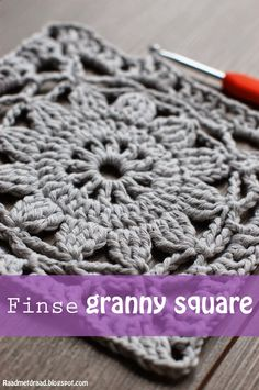 Finse Granny Square - Finnish Granny Square - Bees and Appletrees (BLOG) - a free crochet pattern